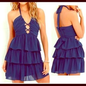 Lulu's Blue Ruffle Dress